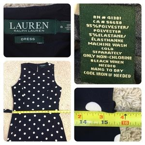 Ralph Lauren Dresses - Ralph Lauren Sleeveless A-line Polka-dot Dress